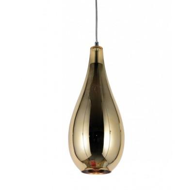 NOWOCZESNA LAMPA WISZĄCA SZKLANA ZŁOTA LAURIS
