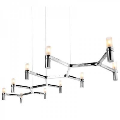 Lampa wisząca CANDLES-10 chrom 165 cm