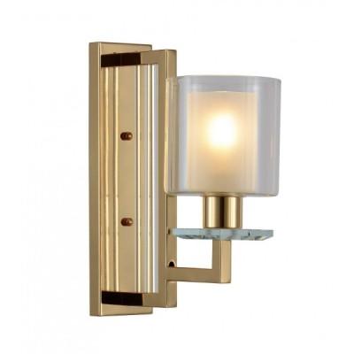 LAMPA ŚCIENNA KINKIET ZŁOTY MANHATTAN W1