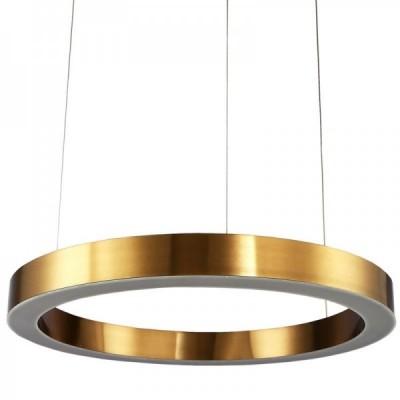Lampa wisząca CIRCLE 100 ledowa 100 cm mosiądz