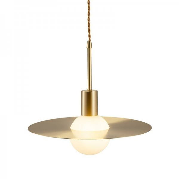 Lampa wisząca JUPITER  złota 30 cm