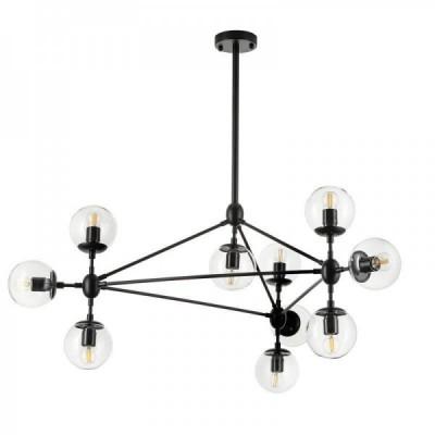 Lampa wisząca ASTRIFERO-10 transparentno czarna 90 cm
