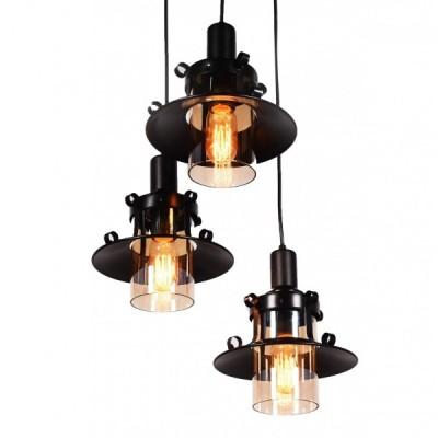 POTRÓJNA LAMPA WISZĄCA CAPRI W3 BLACK