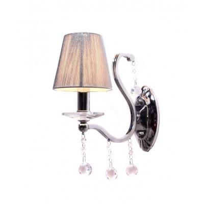 LAMPA ŚCIENNA KINKIET KRYSZTAŁOWY SREBRNY BELLISICA W1