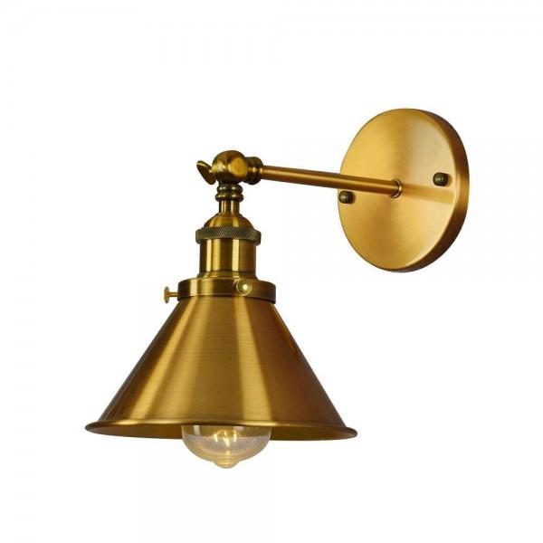 LAMPA ŚCIENNA KINKIET LOFTOWY MOSIĘŻNY GUBI W1