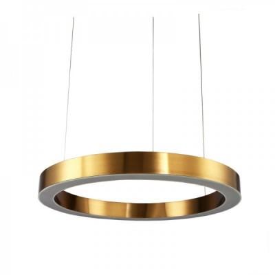 Lampa wisząca CIRCLE 40 ledowa 40 cm mosiądz