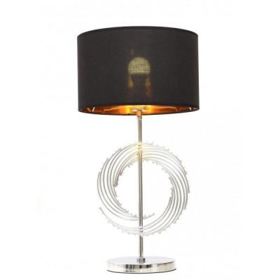 GLAMOUR LAMPA NOCNA CZARNO-CHROMOWANA DELARI