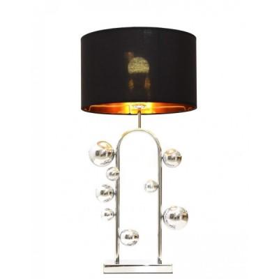 GLAMOUR LAMPA NOCNA CZARNO-CHROMOWANA SELARI