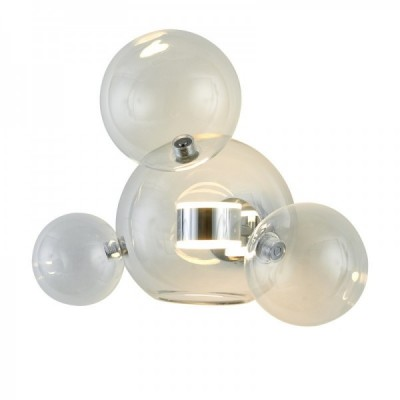 Lampa ścienna BUBBLES -3+1W LED chrom 3000 K