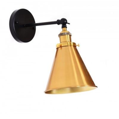 LAMPA ŚCIENNA KINKIET LOFTOWY CZARNY GORI W1