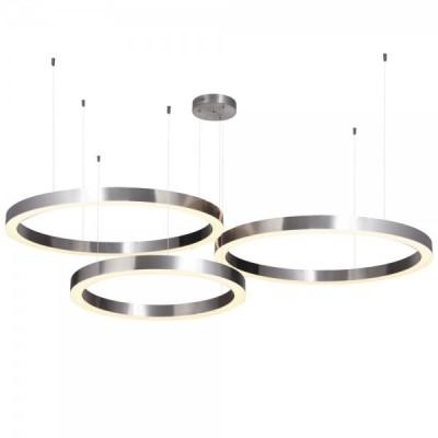 Lampa wisząca CIRCLE 60+80+80 LED nikiel na 1 podsufitce