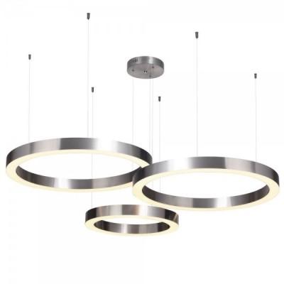 Lampa wisząca CIRCLE 40+60+60 LED nikiel na 1 podsufitce