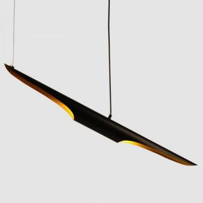 Lampa wisząca BLACK TUBE czarno złota 100 cm