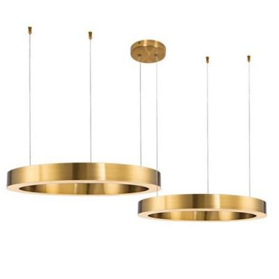 Lampa wisząca CIRCLE 40+60 LED mosiądz na 1 podsufitce