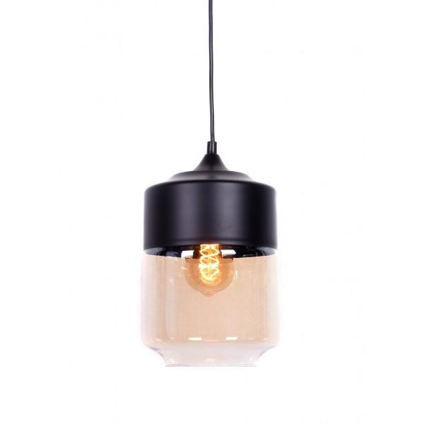 Młodzieńczy LAMPA WISZĄCA LOFT INDUSTRIALNA CZARNA ASTILA EF49
