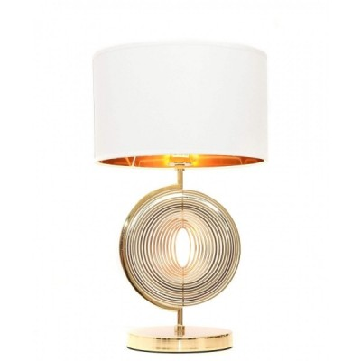 GLAMOUR LAMPA NOCNA BIAŁO-ZŁOTA MONTERONI